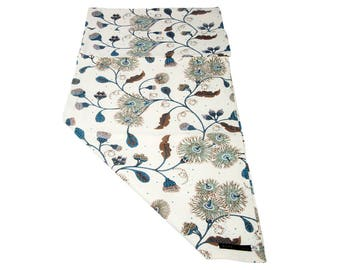 Table Runner,Rectangle Size,6-Seater 8-Seater,Australian Bush Blossom,Australian Wildflowers,100% Cotton,Hand Printed,Ideal Christmas Gift