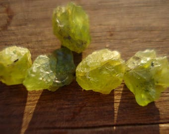Rough Green Peridots - Big 4 Raw Rough Green Gems - Rough Raw Gemstones Peridots MG807
