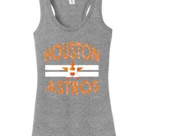 Custom Houston Astros Tank Top, Houston Astros, Astros, Houston Texas, Custom Ladies Tank, Tank Top, Baseball Shirt, Custom Shirts