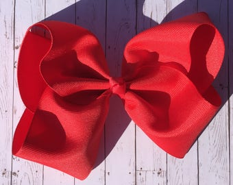 Red Large JoJo Style Hair Bow