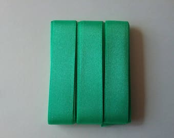 5 m satin ribbon Green 15mm wide SORBO