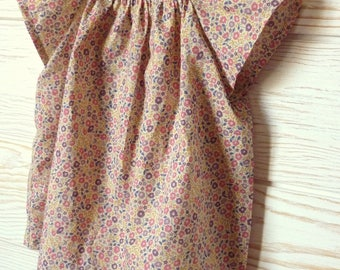 Pretty beige liberty Fairford pink blouse