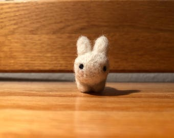 Miniature Needle-felting Needlefelt Rabbit Tiny Rabbit Wool Roving - Tiny Needle-felted Bunny