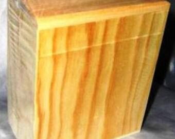 Rectangular raw wooden money box