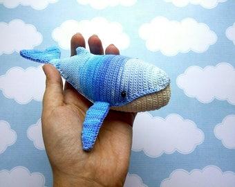 Humpback whale amigurumi crochet toy