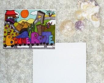 "Card ""Good road"" - (10,7 x 13,8 cm)"
