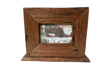4x6 Holiday Barnwood Frame