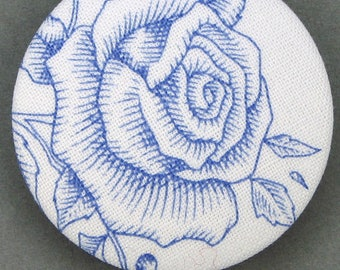 Covered button with mistletoe - the Rose - - diameter 40 mm - 40-02