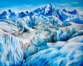 "Acrylic painting prints. ""Frozen In Time"" 19x13 inches"