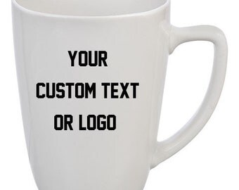 Custom Coffee Mug Cup Your own Logo or Text personalized