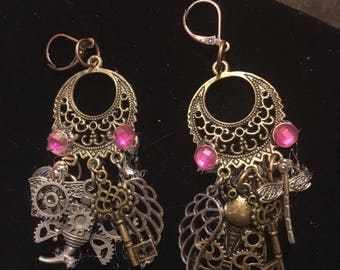 Steampunk Chandelier Earrings