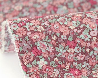 Small Japanese fabric flowers background purple x 50cm