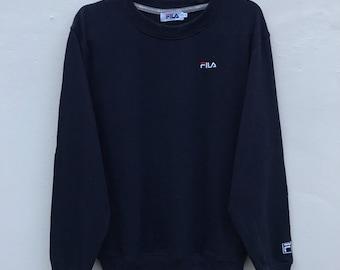 rare!! vintage FILA small logo sweatshirt