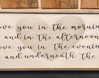 Bedroom Wall Decor | I Love You | Farmhouse Decor | Wood Signs | Handmade