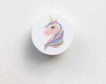 Unicorn wooden bead