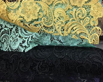 Anastasia MINT Guipure Lace Fabric by the Yard - Style 1004