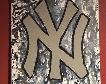 Sports team melted color canvas