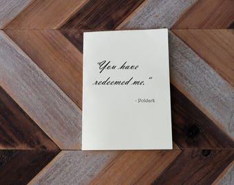 Poldark Romelza greeting card