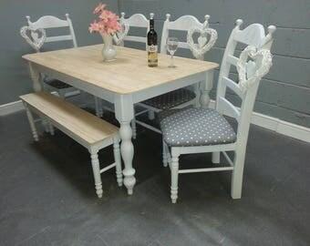 Bespoke Shabby Chic 5FT Table Set