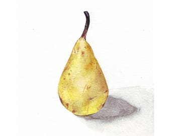 Little Italian Pear Greetings Card