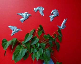 """Flight of birds"" wall decor black & white"