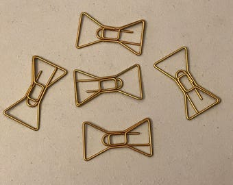 Gold /Bronze Bow Paperclip