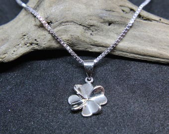 925 sterling silver chain necklace with clover clover