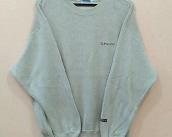 U. P RENOMA Sweatshirt pullover spellout LL size