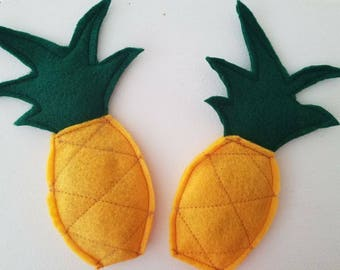 Pineapple | Organic Catnip-Filled Cat Toy | Felt Play Food for Kitty