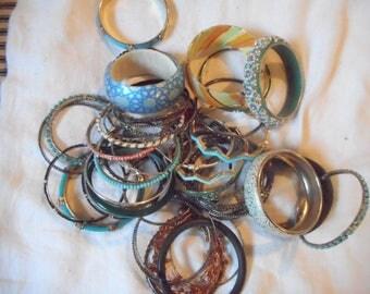 FABULOUS destash lot of bangle bracelets 40+