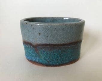 Small oval ceramic pot