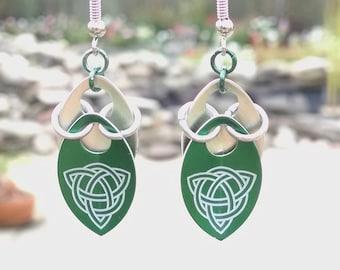 Celtic Dragon Scale Earrings