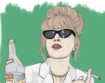 Patsy, Absolutely Fabulous Illustration Print