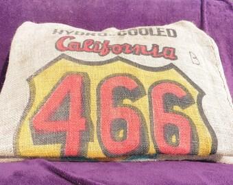 466 California jute canvas pillow cover