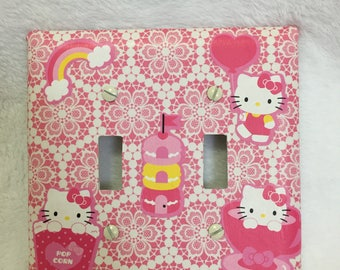 Switch plate 2 toggle Hello Kitty