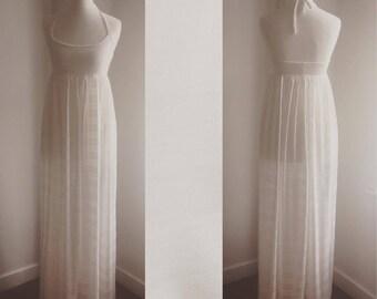 sheer empire beach dress