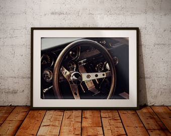 1960's Ford Mustang, Vintage Car Wall Decor, Garage Wall Art, Man Cave Decor, Classic Car Wall Art, Car Wall Art, Gift For Him
