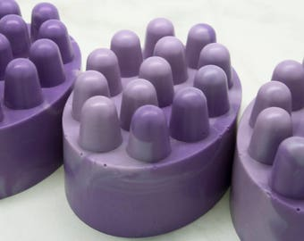 Massage Soap - Lavender Soap - Floral Hand Soap - Floral Body Soap - Lavender Skincare - Spa Gift - Artisan Soap - Lavender Scented Soap