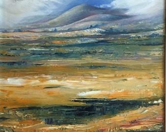 Scottish Moors oil painting landscape art oil painting moorland  landscape