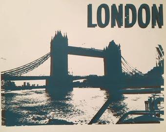 London screenprint