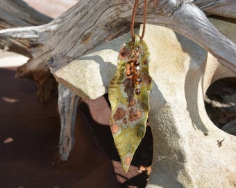 Ceramic Leaf Necklace