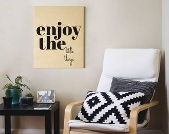 Wood sign, wood home sign, wood wall decor, wood home decor, quotes on wood, scandinavian decor, plywood sign, wood art, quotes wall decor