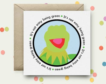 Kermit Square Pop Art Card & Envelope
