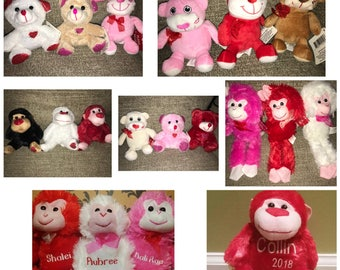 Valentine's Personalized Plush Animals