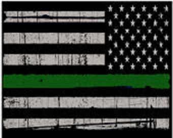 Thin Green Line Flag-Passenger