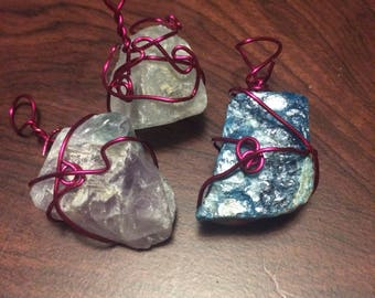 Wire wrapped gemstones. Wicca/pagan/witchcraft