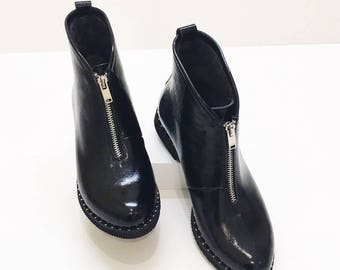 Womens Ankle Boots, Womens Leather Boots, Loow Boots, Black Boots