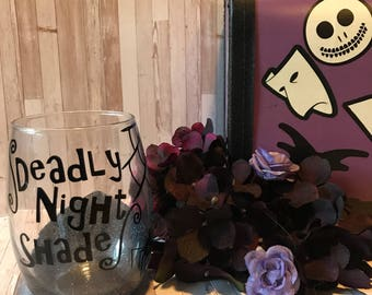 Deadly Night Shade wine glass