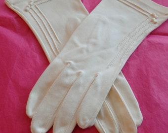Vintage Hansen's White Crescendoe Gloves