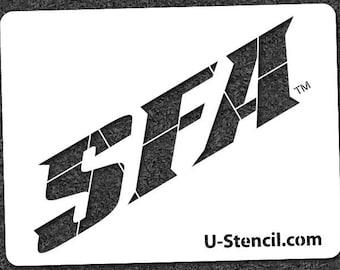 "STEPHEN F. AUSTIN ""SFA"" – Mini Stencil"
